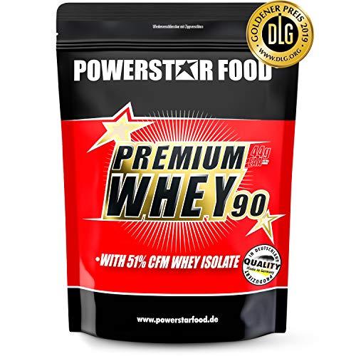 PREMIUM WHEY 90 | 90% Protein i.Tr. | 51% CFM Whey Isolat | Protein aus Weidenmilch | Nur 1% Kohlenhydrate | Ideal für Muskelaufbau & Abnehmen | Deutsche Herstellung | 850g | Chocolate
