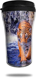 FTRGRAFE Tiger HD Wallpapers Travel Coffee Mug 3D Printed Portable Vacuum Cup,Insulated Tea Cup Water Bottle Tumblers for Drinking with Lid 8.54 Oz (250 Ml)
