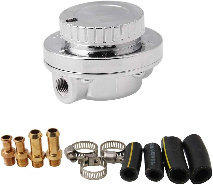 WonVon Adjustable Low price Fuel Free Shipping Cheap Bargain Gift Pressure Universal Gunmetal Regulator Kit