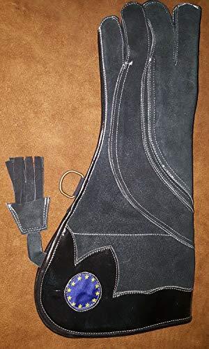 Altawash Eagle, Falconry et chouettes Gant avec EU Drapeau, 3 couches en daim Cuir de 40,6 cm de long, Small