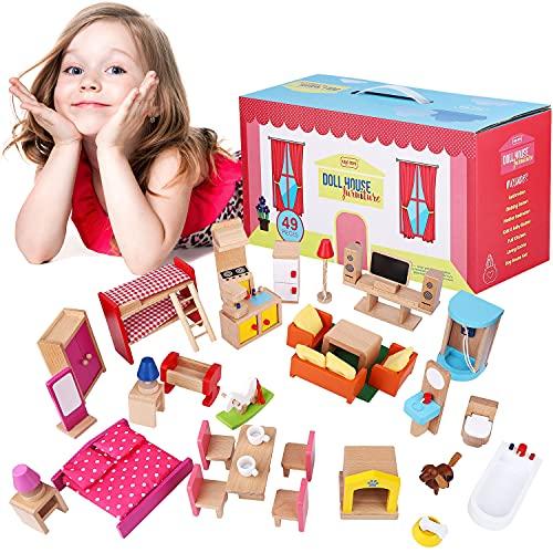 Best Wooden Dollhouse Furniture Sets