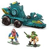 Mega Construx Másters del Universo Ram Batalla Figuras articuladas con coche de juguete de bloques de construcción para niños (Mattel GWY75)