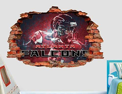 WARMBERL Atlanta Falcons Football Nfl Angepasst 3D Wandtattoo Aufkleber Vinyl