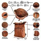 Berliner Bags Rucksack Utrecht XL Kurierrucksack mit Laptopfach aus Leder Fahrradrucksack Trekkingrucksack Damen Herren - 3