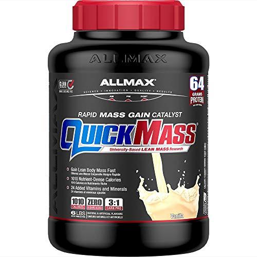 ALLMAX Nutrition - QUICKMASS - Weight Gainer & Rapid Gain Catalyst, Vanilla, 6 Pound