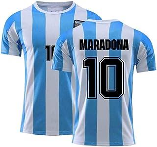 Juyuntong Diego Maradona # 10 Argentina Home Soccer Jersey, Camiseta de fútbol, Tributo al Gran Jugador de fútbol