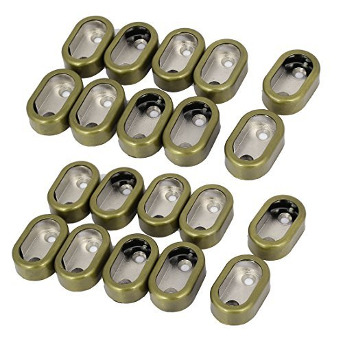 DealMux 17 mm bredd oval garderob plagg rör spak stång klädfästen hållare 20 st