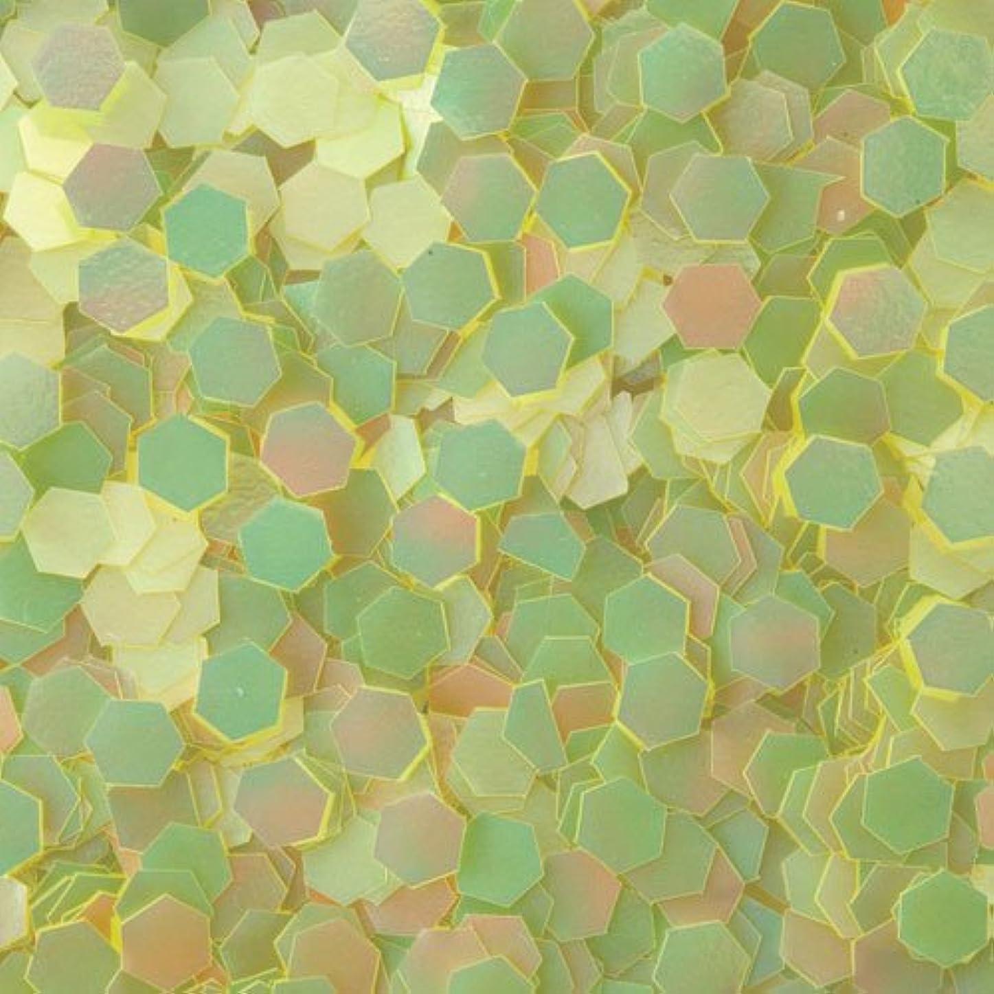 オートマトンスモッグ中庭ピカエース ネイル用パウダー 六角パステル 2.5mm #355 イエロー 0.5g