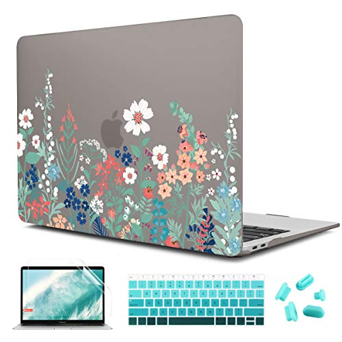 CISSOOK Floral Hard Cover for MacBook Air 13 Inch Case 2020 2019 2018...