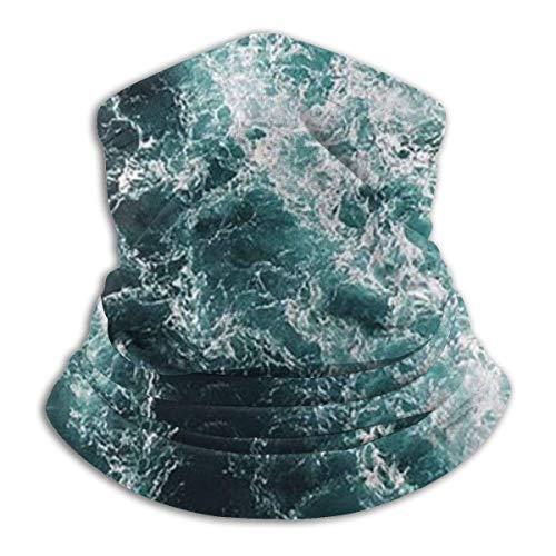 Golven Patroon Fleece Nek Warmer - Omkeerbare Nek Gaiter Tube, Veelzijdigheid Oorwarmer Hoofdband