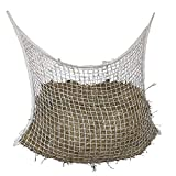 Jiakalamo Bolsa de red de heno de alimentación lenta de día completo, malla de nailon trenzado, para alimentador de caballos, suministro de caballos, ganado, ovejas bolsa grande Haynet (120 x 90 cm)