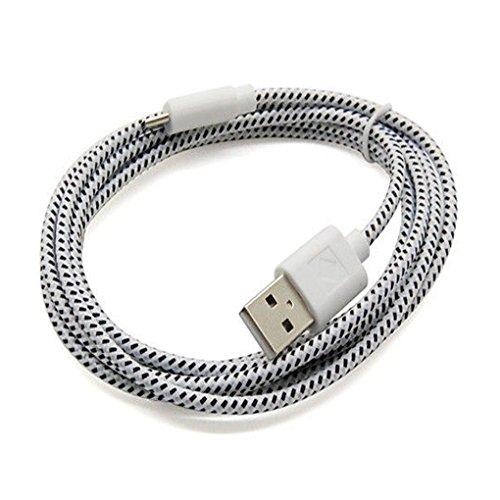 Guangcailun El cáñamo Cuerda de teléfono USB Cargador de sincronización de Datos por Cable para teléfonos