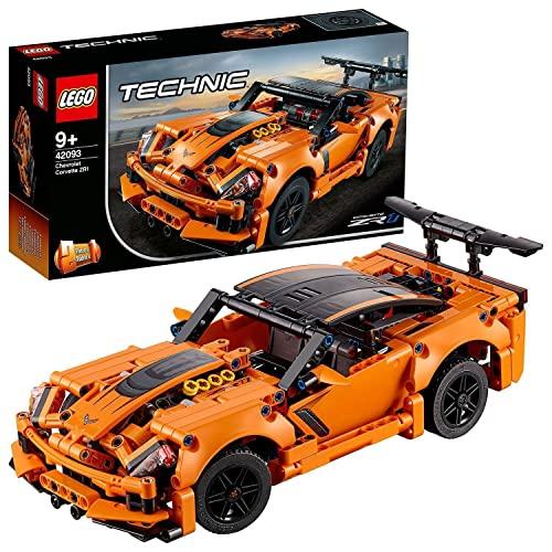 LEGO 42093 Technic Chevrolet Corvette ZR 1 Modelo de Coche de Carreras 2 en 1, Set de Construcción para Niños a Partir de 9 años