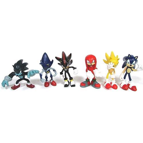 cb2a3d8208485 SONIC 6 Piece Figure Set Featuring Sonic