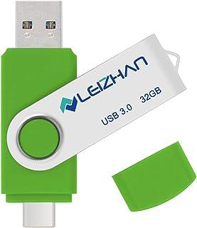ذاكرة فلاش يو اس بي نوع سي 32 جيجابايت، يو اس بي سي بيندريف 3.0 لهاتف سامسونج جالاكسي S10، S9، نوت 9، S8، S8 بلس، اخضر