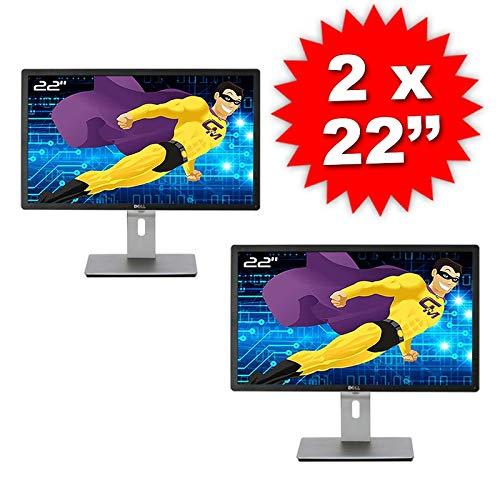 Dell Lot Dual Screen 2X Screens PC 22 ' P2213f 44FGY VGA DVI Displayport USB 16:10