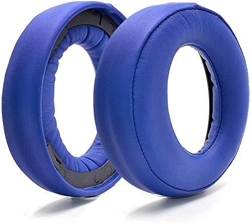 1 Paar Ohrpolster, Ersatz-Ohrpolster, Schaumstoffkissen für Sony Gold Wireless Headset PS3 PS4 7.1 Virtual Surround Sound CECHYA-0083 Kopfhörer, Blau