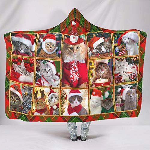 Zhenxinganghu Suave y sin color, con capucha, muy suave, manta cuadrada para todo el año, para oficinas en primavera o otoño o invierno, elegante estilo blanco, 130 x 150 cm