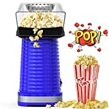 Hot Air Popcorn Maker Machine, Popcorn Popper for Home, ETL Certified, BPA-Free, No Oil, Healthy Snack for Kids Adults, Removable Measuring Cup, Perfect for Party Birthday Gift, Blue-1200W