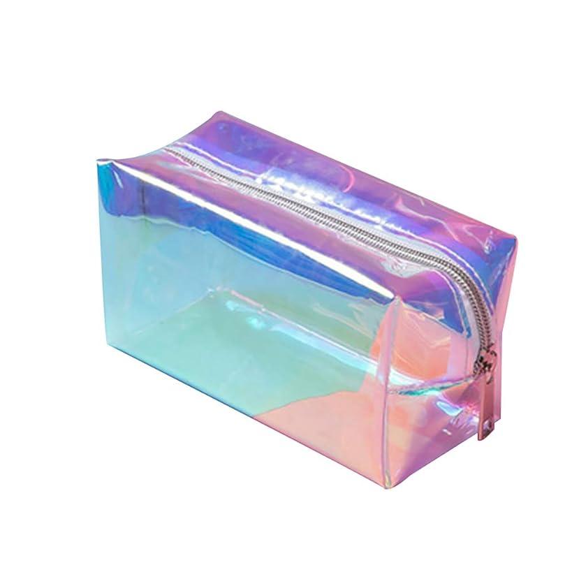 大胆望むしばしばBesttoyホログラフィックコスメティックバッグ、コスメティックトラベルバッグ、スキンケア製品収納バッグ、ポータブル、防水、防塵、お手入れが簡単、大容量、半透明、ショルダーバッグに収納可能