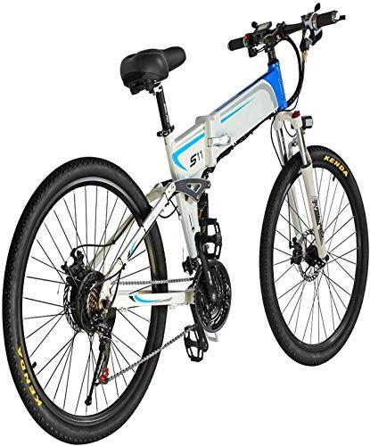 Alta velocidad Mens bicicleta de montaña Ebikes todo terreno con pantalla LCD plegable electrónico bicicletas 1000w 48v 14ah 7 Velocidad Batttery 26  4 pulgadas de suspensión de bicicleta eléctrica c