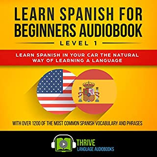 Learn Spanish for Beginners Audiobook Level 1 cover art