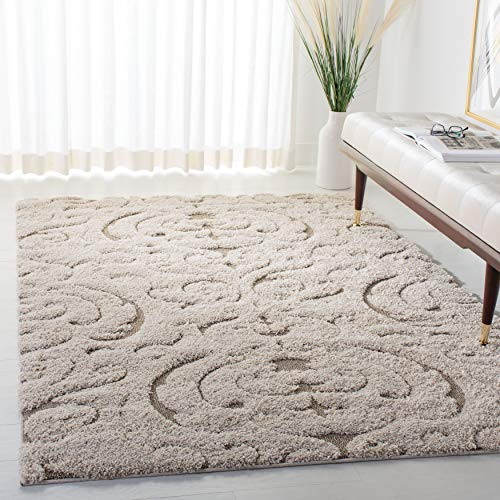 Safavieh Florida Shag Collection SG467-1113 Scroll Textured 1.18-inch Thick Area Rug, 8