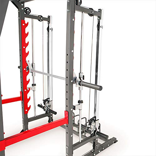 Marcy Pro Smith Machine Weight Bench Home Gym Total Body Workout Training System SM-4903