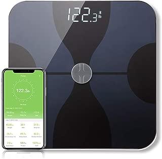Bucanim Bluetooth Scale Digital Bathroom Body Fat Scale Composition Smart Scale Monitor Professional Body Analyzer ITO Conductive Glass,Capacity 400LB,