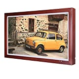 Soulaca 21.5 inches Digital Picture Frames Art Display with Wooden Frame Images and Photography Electronic Photo Frame