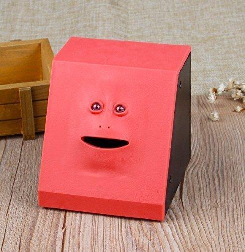 Treasure-house Piggy Bank Sparschwein, Face Design Geld Box Kunststoff M�nze Bank Container Sicher Sparen Cash Home Dekoration