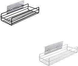 Parshall 2 STKS badkamer douche hoek plank geen boren roestvrij ruimte aluminium douche Caddy opslag voor badkamer keuken,...