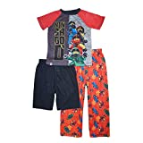 LEGO ボーイズ ビッグニンジャゴー ニンジャアイズ パジャマ3点セット Tシャツ/ショーツ/パンツ US サイズ: 6-7 カラー: レッド