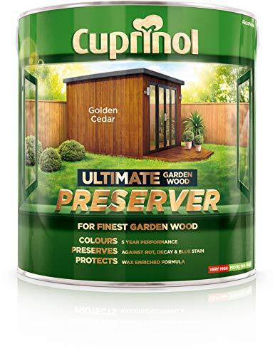 Cuprinol CUPGWPREGC4L 4L Ultimate Garden Wood Preserver - Golden Cedar