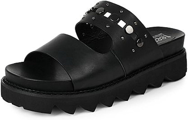 Flip Flops Gemütlich Sommer-Mode gezackt mit Hausschuhen Einfache Casual Pantoffeln Dick Boden Pantoffeln (2 Farben optional) (Gre optional) Erhht