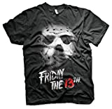 Friday The 13th Officially Licensed 3XL,4XL,5XL Mens T-Shirt (Black), 5X-Large