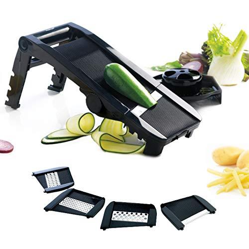 Mastrad Gemüsehobel - Gemüseschneider - mit hochwertigen Klingen aus Edelstahl – Gurkenhobel- Scheibenschneider -Gemüsehobel -Kartoffelschneider- Karottenhobel -Pommesschneider