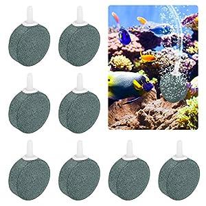 Huahao 8 Pcs Air Stone Bubble 4cm Bubble Release Air Stones for Aquarium, Fish Tank, Pond and Hydroponics