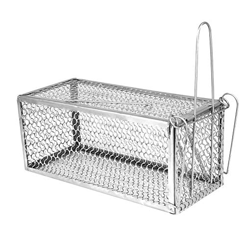 CXZC Mouse Trap Humane Live Cage, Catch and Release Mice, Rats, Chipmunks, Squirrels, Hamsters and Other Rodents, Single Door
