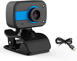 Anonyme 360 Degree USB 12M HD Webcam Web Cam Clip-on Digital Camcorder with Microphone for Laptop PC Computer Blue