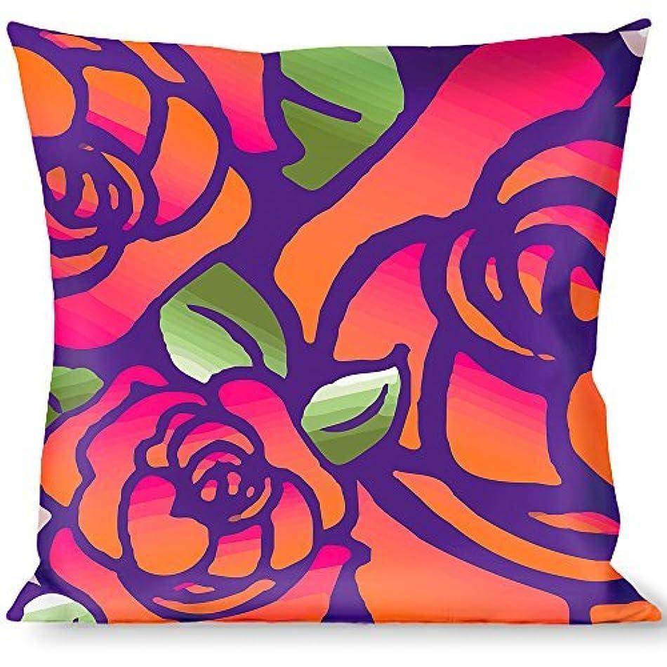 ラフレシアアルノルディ代わりにを立てる白菜Buckle Down Born to Blossom Blue Throw Pillow, Multicolor [並行輸入品]