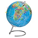 Waypoint Geographic Magneglobe Magnetic UP-TO-DATE World Globe with Stand - Includes 32 Magnetic Pins For Marking Travels & Fun Points Of Interest (Blue Ocean)