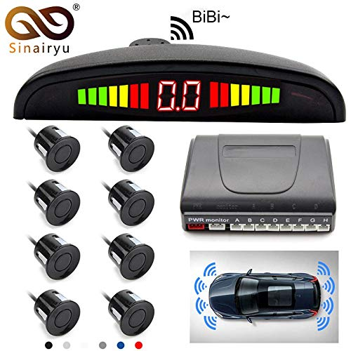 Best Prices! White, LED Display : Sinairyu Car Detector reversing Radar LED Display Parking sensors ...