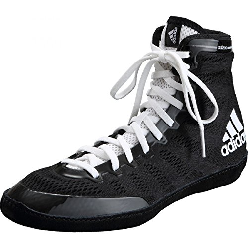 adidas Men's Adizero Wrestling XIV Wrestling Shoes, Black/White/White, 6.5 M US