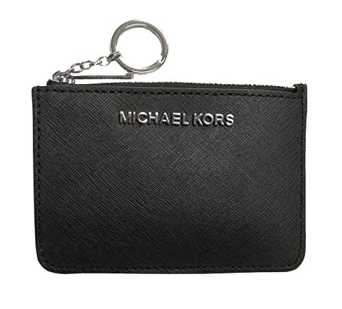 Michael Kors Jet Set Travel Small Top Zip Signature Coin Pouch ID...