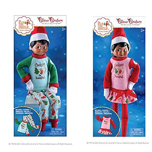 The Elf on the Shelf Claus Couture Collection Yummy Cookie PJs & Nachthemd Doppelpack (Elfenpuppen nicht im Lieferumfang enthalten)   Elfe auf dem Regal Kleidung   Elf auf dem Regal Zubehör