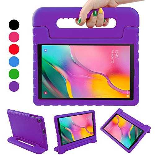 BelleStyle Kids Case for Samsung Galaxy Tab A 10.1 2019, EVA Shockproof Lightweight Protective Child Case Convertible Handle Stand Cover for Galaxy Tab A 10.1 Inch T515/T510 2019 Release (Purple)