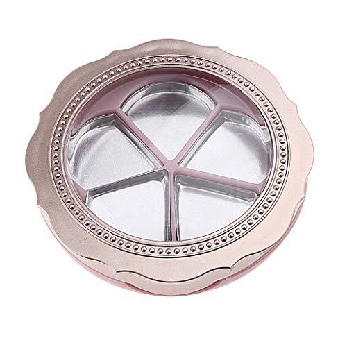 Homyl Pot Vide Forme de Rose Rechargeable à Poudre Cosmétique Baume à Lèvres Outil de Maquillage pour Voyage pour Femme Fille - Or Orange