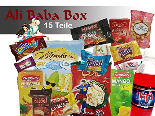 QueenBox® Ali Baba Box arabische Süssigkeiten Großpackung, Snacks, Süßigkeiten, Getränke, Schokolade, Chips, Gebäck Party Box