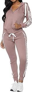 2Pcs Outfit Women Letter Printed Bodycon Tracksuit Sport Lounge Suit Pant Sets